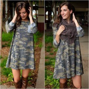 ✨RESTOCKED✨Soft Knit Camo Dress